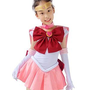 Dazcos Sailor Chibi Moon Kids Cosplay Costume - L